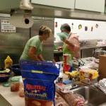 Packing food away in Kitchen for later preperation